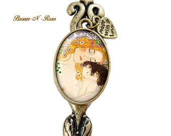 Bookmarks the mother and child jewelry retro Gustav Klimt letter opener