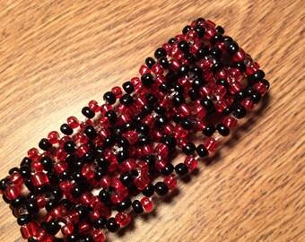 Bead Woven Cuff Bracelet