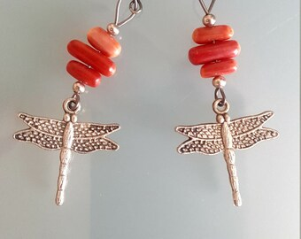 Dragonfly shape earrings