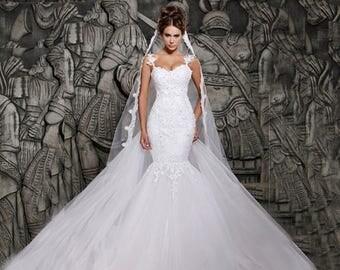 Vestidos De Noiva Trumpet Mermaid Wedding Dress