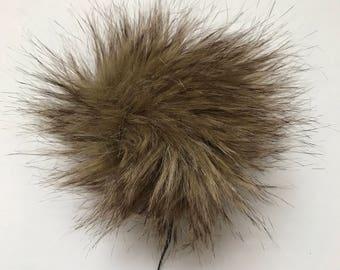 Faux Fur Wolf Pom Pom