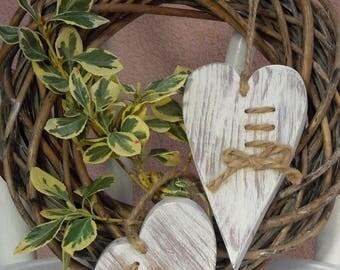 Wooden heart, wood heart