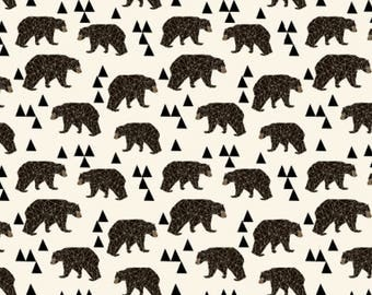 Bear Crib Sheet Geo bear Crib Fitted sheet| Baby boy nursery|Modern baby boy|Boy|