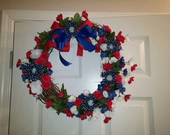 July 4th Decorative Door Wreath