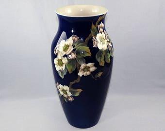 Royal Copenhagen Big Size Cobalt Blue Porcelain Vase