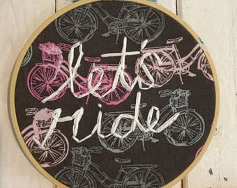 Let's Ride Bicycle Stitch