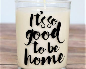 Hygge Candle, Hygge Decor, Housewarming Gift, New Home Gift, Our First Home, Hand Poured Candle, Soy Wax, Hygge Gift, Quotes About Home