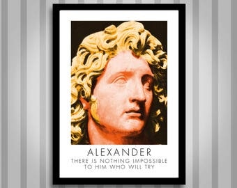 Alexander, motivational, Inspirational, Self Development, Personal Development, Poster