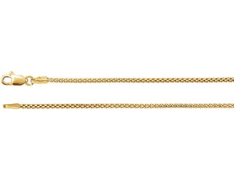 14K Yellow 18 in. 1.5MM Popcorn Chain