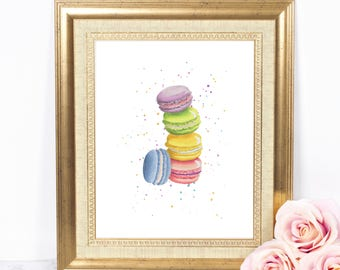Macaron 8x10 Party Printable, Instant Download, Macaron Poster, Macaron Birthday Party Sign, Macaron Decor, Wedding Shower Dessert Sign