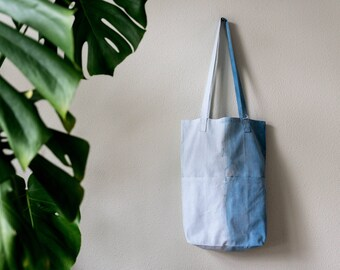 Sustainable cotton bag-dyed with natural indigo