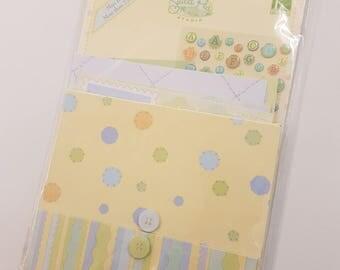 Mini Scrapbooking Kit Baby Boy Themed Design