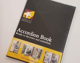 Accordian Style A6 Scrapbook Blank Pages