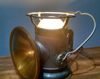 Vintage Delta Railroad Lantern Converted to Accent Lamp