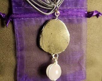 Pyrite and quartz necklace