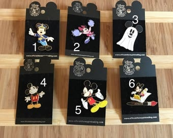 Authentic Mickey and Minnie Mouse Disney pins
