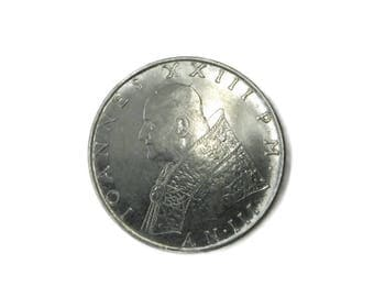 Vintage Vatican 100 Lire Coin 1961 Pope John XXIII Faith Chalice and Cross
