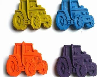 Tractor Crayons - Pack of 4 Tractor Crayons, Novelty Crayons, Crayons, Tractor , Fun Crayons, Funky Crayons, Crayons