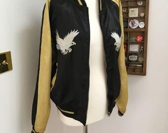 Vintage 1980's Reversible Japanese style Souvenir Jacket