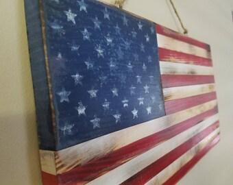 Wood American Flag, flag, American flag, distressed flag, wall art, home decor, retirement gifts
