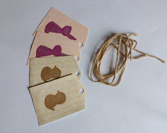 Metallic Bunny & Chick Gift Tags - 4 Pack