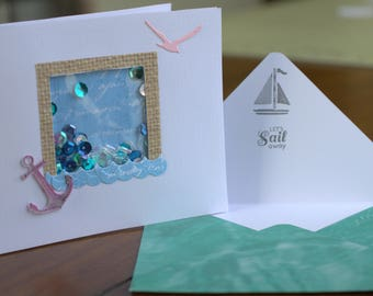 Nautical mini shaker card