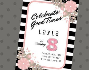 Celebrate Good Times Birthday Invite
