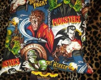 Horror Movie Monsters Pillow