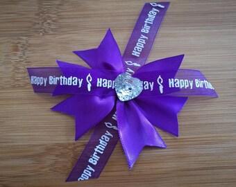 Happy Birthday Hair Bow Clips. 3 Styles.
