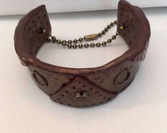 Polymer Clay Steampunk  Cuff Bracelet