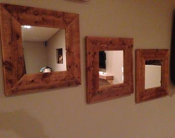 Rustic mirror set