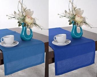 Blue Wedding Table Runner, Wedding Decor Table Decoration Table Centerpiece  Sapphire Wedding Blue Table Runner