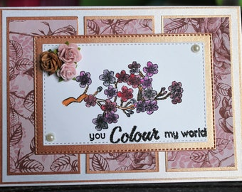 Bronze and rose card