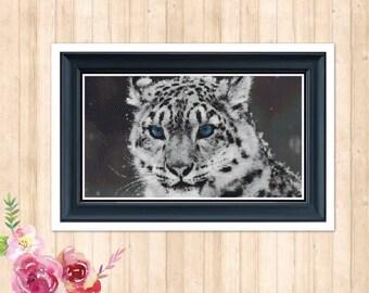 Snow Leopard Cross Stitch Pattern