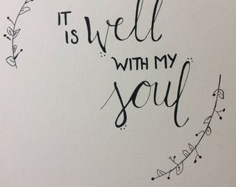 It Is Well With My Soul- Wall Art