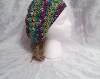 Multi colored womens slouchy hat