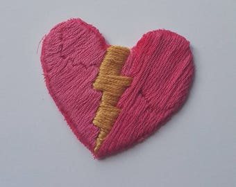 Lightning Heart Patch// Only ONE Available