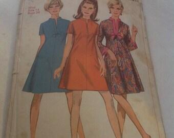 1960s simplicity dress pattern
