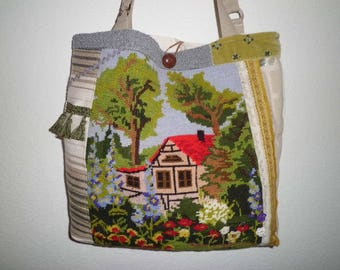 Tapestry bag house with garden