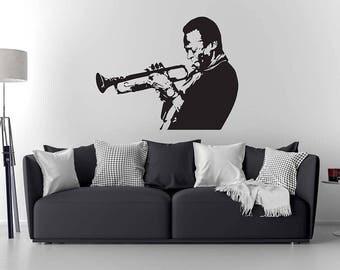 Miles Davis wall Decal / Miles Davis Art/ Home decor/ Wall Sticker