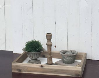 Rustic Wood Coffee Table Tray
