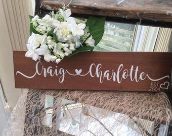 Personalised Engagement / Wedding / Anniversary plaque
