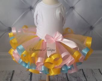 Curly ribbon trim tutu