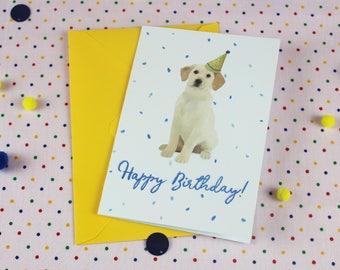 Blank Birthday card For him / Dog card / Labrador Birthday card / Dog Birthday card / Birthday card / Personalised Birthday card / Personal