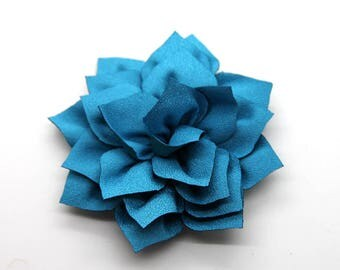 2 Blue Poinsettia Flower Baby Girl Flower Hair Clips Brooches