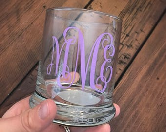 Makeup brush holder / monogrammed makeup brush container / pencil cup