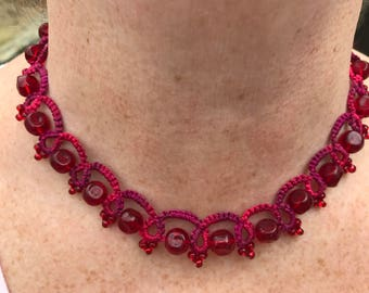 Arleen Tatted Necklace