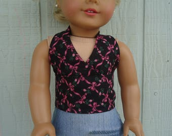 Halter top  for 18 inch dolls