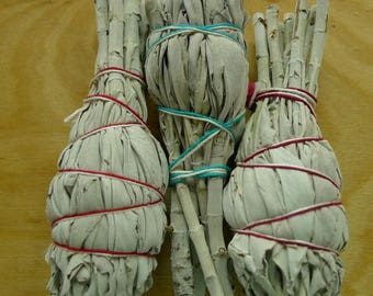 3 Sage Torches for Smudging