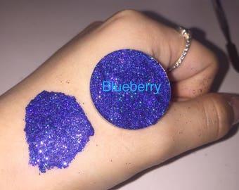 Blueberry - blue holographic Pressed Glitter eyeshadow
